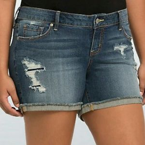 Torrid Size 18 Distressed Jean Shorts